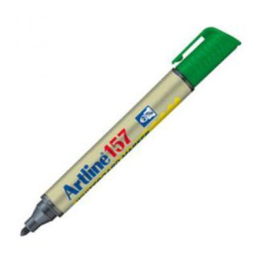 Artline 157 Dry Wipe Marker Bullet Green
