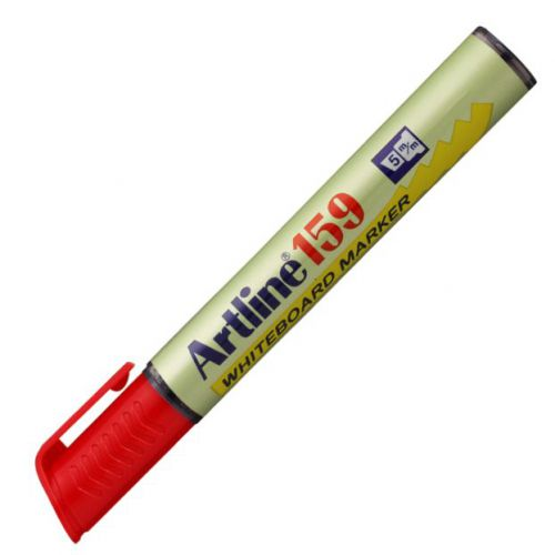 Artline 159 Dry Wipe Marker Chisel Red