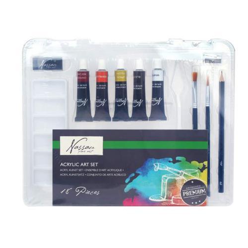 Fine Art Acrylic Paint Set 16 Pcs