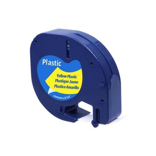 LetraTag Cmpa Tape 12mm Bk/Yel Plastic