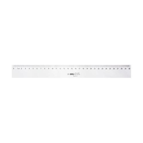 Deli Plastic Ruler 30cm Bx20