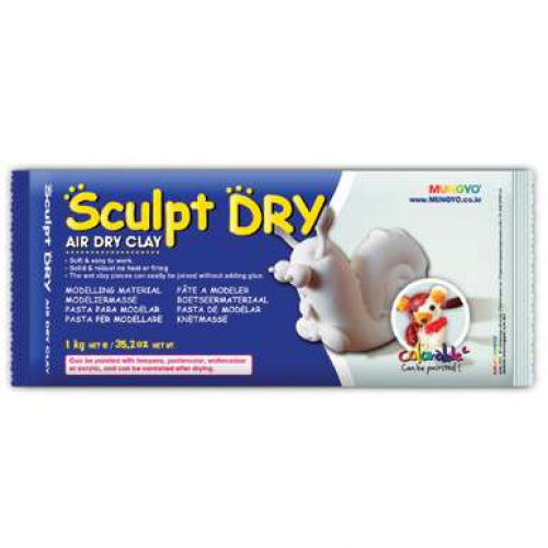 Sculpt-dry Air hardening clay, 1kg white