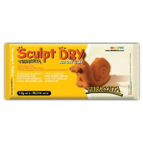 Sculpt-dry Air hardening clay, 1kg terracotta