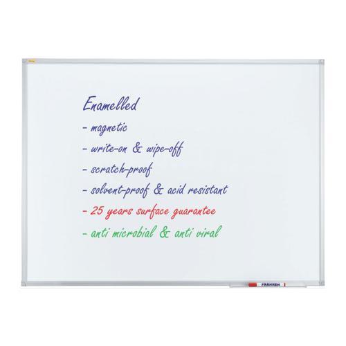 Whiteboard ECO Enamel Magnetic 180x120cm