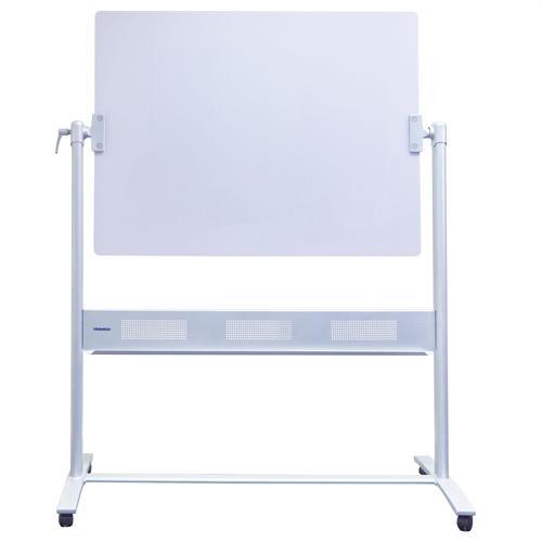 Mobile Glass Revolving Whiteboard 120x90cm