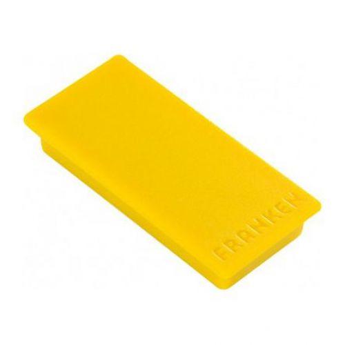 Franken Magnet Rectangle 23x50mm Yellow
