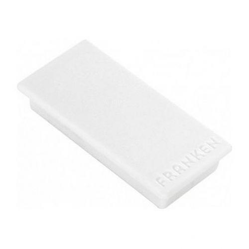 Franken Magnet Rectangle 23x50mm White