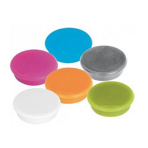 Magnet round 32mm Assorted Fun Colours Pk10