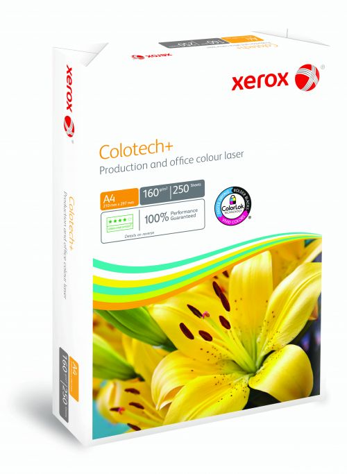 Xerox Colotech+ FSC Mix 70% A4 210x297mm 160Gm2 Long Grain 003R99014 Pack 250 SOLD AS SINGLES