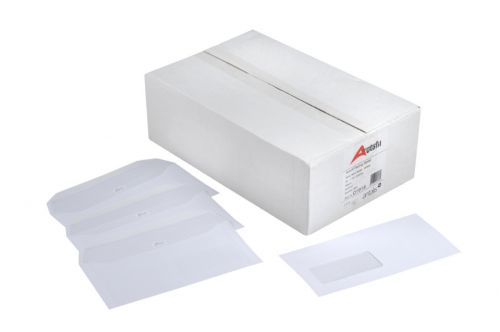 Autofil Wove Wallet Envelope Gummed PEFC2 Window 20Up 20Flhs  121X235mm 90Gm2 White Box of 500
