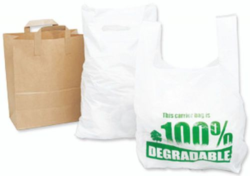 Carrier Bag 280 x 430 x 533mm (11 x 17 x 21) High Tensile Eco Degradable Green Tint Pack 2000