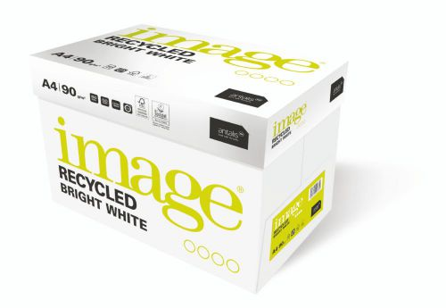 Image Recycled Bright White 100% Recycled A4 210X297mm 90Gm2 Packed 500