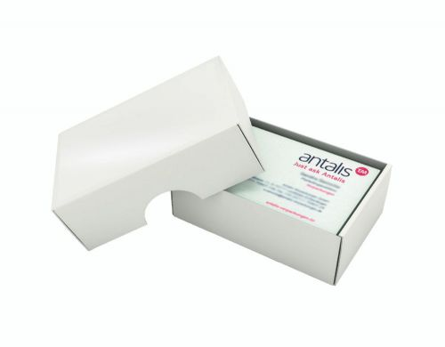 Business Card Box & Lid Small 95 X 60 X 35mm Plastic Base/Lid Pack 250