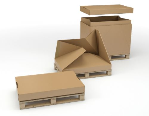 1/2 Euro Pallet Box Comes With Integral Heat Treated Pallet 770 X 570 X 660MM