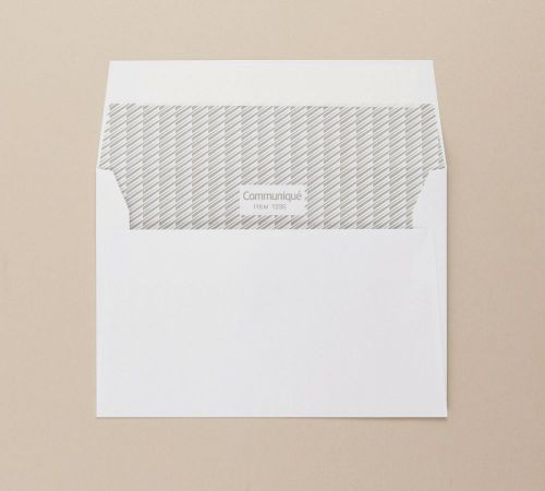 Communique Wallet Envelope Peel Seal C6 114x162mm 100Gm2 White Pack of 500