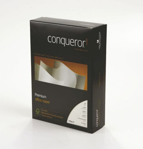 Conqueror Paper Texture Laid Oyster FSC4 A4 210x297mm 100Gm2 Watermarked Pack 500