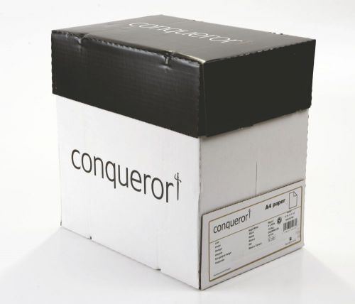 Conqueror Paper Texture Laid High White FSC4 A4 210x297mm 90Gm2 Watermarked Pack 500