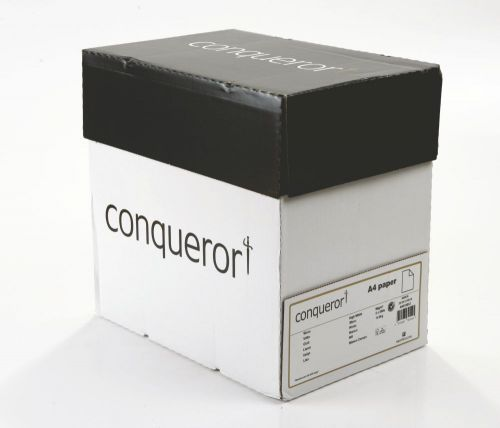 Image for Conqueror Paper Smooth/Satin Wove High White FSC4 A4 210x297mm 90Gm2 Watermarked Pack 500