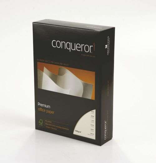 Conqueror Paper FSC Mix Credit Cream Wove A4 100Gm2 Watermarked Pack 500