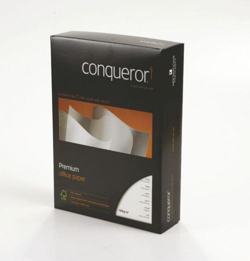 Conqueror Paper Brilliant White Wove FSC Mix Credit A4 100Gm2 Watermarked Pack 500