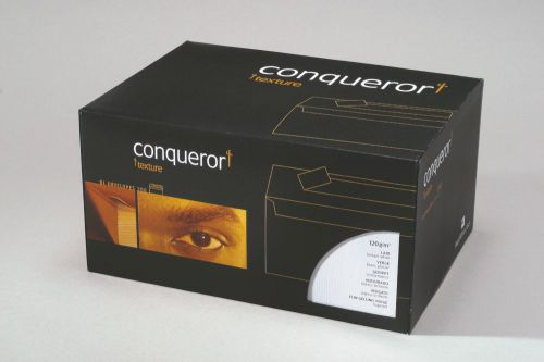 Conqueror Laid Brilliant White DL Envelope FSC4 110X220mm Sup/Seal Bnd 50 Box500