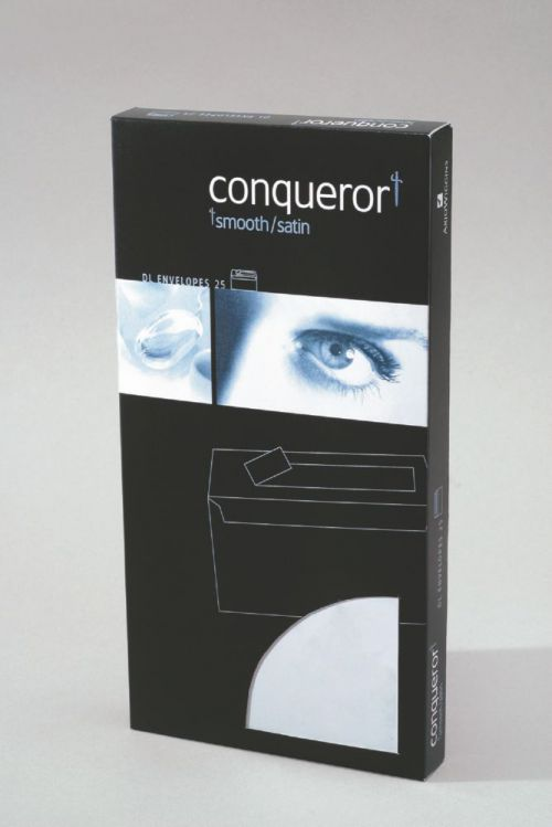 Conqueror Envelope Texture Laid 120gm Brilliant White DL SuperSeal Pack 25