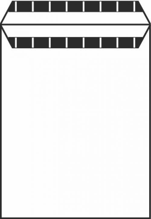 River Series Wove Pocket Envelope Selfseal PEFC1 254X178mm 90Gm2 White Box of 500