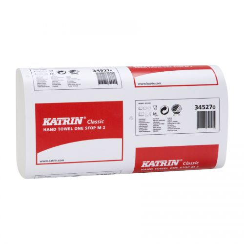 Katrin Classic Non Stop M2 White 2 Ply 135 Sheets 203 x 255mm Pack 15 343023
