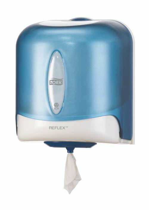 Tork Reflex Single Sheet Centrefeed Dispenser Blue 331mm X 255mm X 239mm 473180