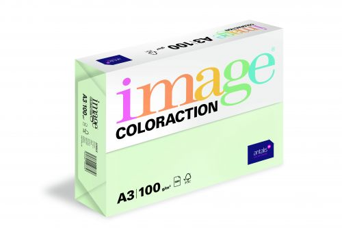Image Coloraction Jungle FSC Mix Credit A3 297x420mm 100Gm2 Pale Green Pack of 500