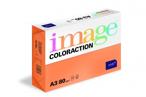 Image Coloraction Amsterdam FSC Mix Credit A3 297x420 mm 80Gm2 Deep Orange Pack of 500