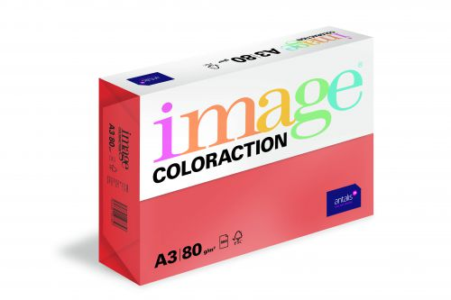 Image Coloraction Chile FSC Mix Credit A3 297x420 mm 80Gm2 Deep Red Pack of 500