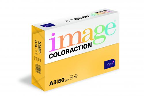 Image Coloraction Tinted Paper A3 80gsm Gold Hawaii (500) 89632