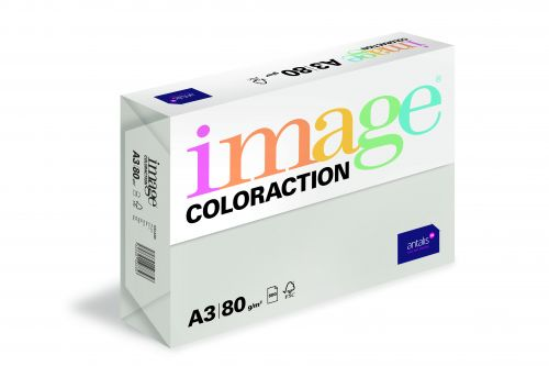 Image Coloraction Iceland FSC Mix Credit A3 297x420mm 80Gm2 Mid Grey Pack of 500