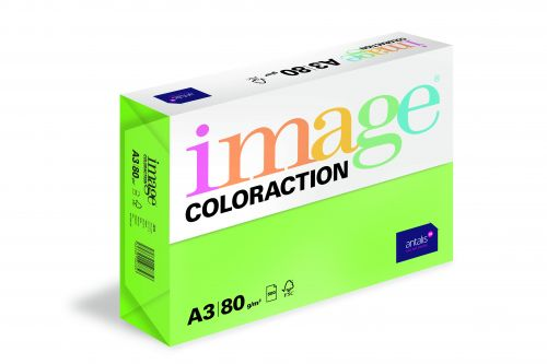 Image Coloraction Java FSC Mix Credit A3 297x420mm 80Gm2 Dark Green Pack of 500