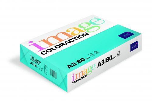 Image Coloraction Lisbon FSC Mix Credit A3 297x420mm 80Gm2 Deep Turquoise Pack of 500