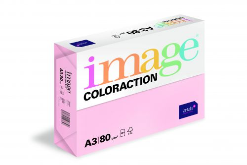 Image Coloraction Tinted Paper A3 80gsm Pale Pink Tropic (500) 89627