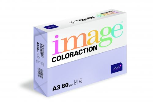 Image Coloraction Tundra FSC Mix Credit A3 297x420mm 80Gm2 Mid Lilac Pack of 500
