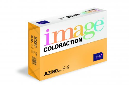 Image Coloraction Venezia FSC Mix Credit A3 297x420mm 80Gm2 Mid Orange Pack of 500