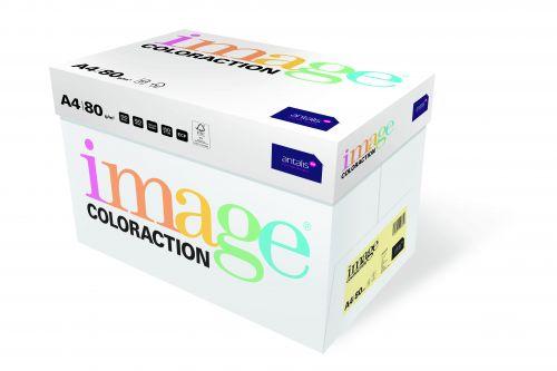 Image Coloraction FSC Mix Credit Desert FSC Mix Credit A4 210x297 mm 80Gm2 Pale Yellow Pack of 500