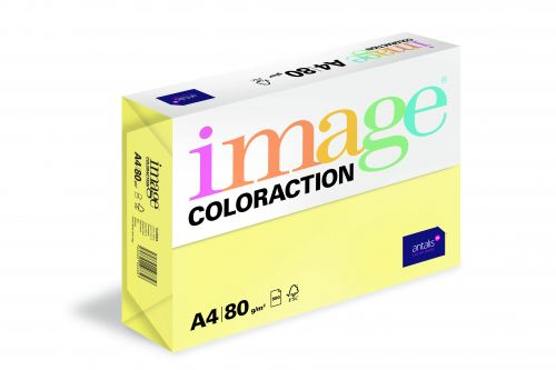 Image Coloraction Florida FSC Mix Credit A4 210x297 mm 80Gm2 Lemon Yellow Pack of 500