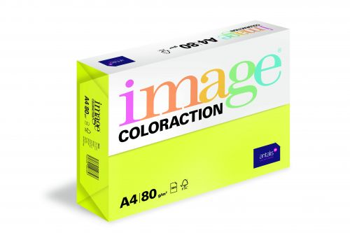 Image Coloraction Ibiza FSC Mix Credit A4 210x297 mm 80Gm2 Neon Yellow Pack of 500