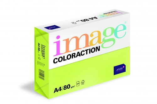 Image Coloraction Rio FSC Mix Credit A4 210x297 mm 80Gm2 Neon Green Pack of 500