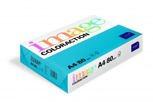 Image Coloraction Stockholm FSC Mix Credit A4 210x297 mm 80Gm2 Deep Blue Pack of 500