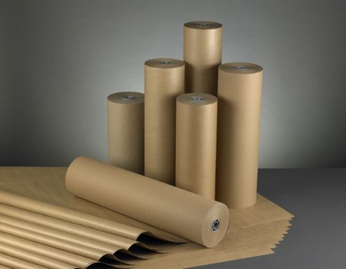 Pure Ribbed Kraft Paper Roll 90Gm2 600mm X 220M