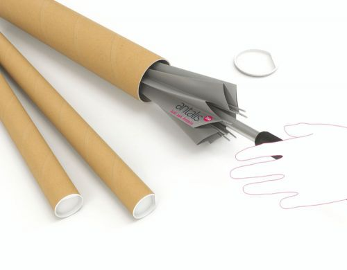 Image for Postal Tube 450x50x1.5mm Brown Kraft (Pack of 25) PT-050-15-0450