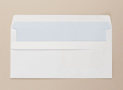 Opportunity White Self Seal Envelope DL 110mmx220mm Medium Weight Window Boxed 1000