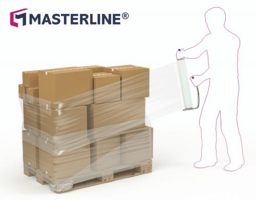 Masterline Blown Hand Stretch Film 400mm x 250m 15mu 6/Box MA14581