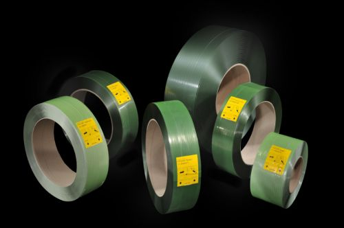 Polyester Green Strap 16-4M100GP 15.5mm x 2000m 0.6mm 401kg Break Card Core