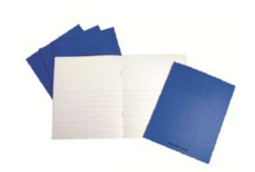 Rhino Project Book Top Blank Bottom 12mm Ruled 205x165mm Blue 32 Page Pack of 100 PW02526 3P